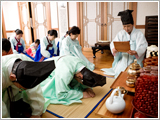 Charye (ancestor memorial services). Image from english.visitkorea.or.kr.