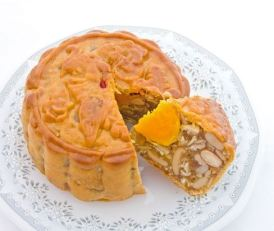 Moon cake with egg yolk center. Image from thedailymeal.com.