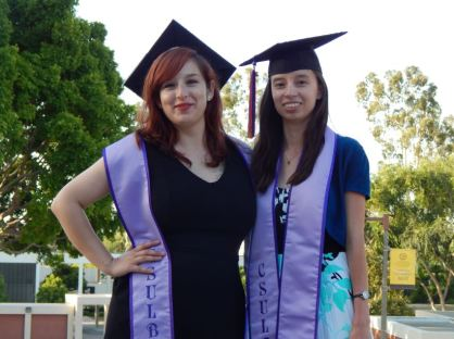 Me and my friend at Lavender Graduation.