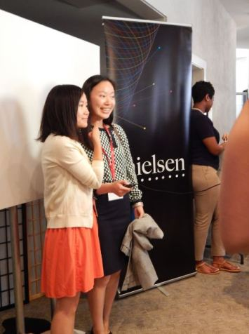 Photo booth provided by Nielsen.