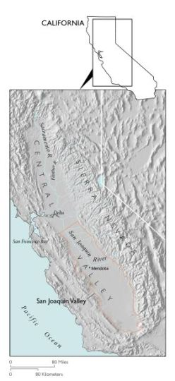 Location of San Joaquin Valley. Image from Galloway and Riley.