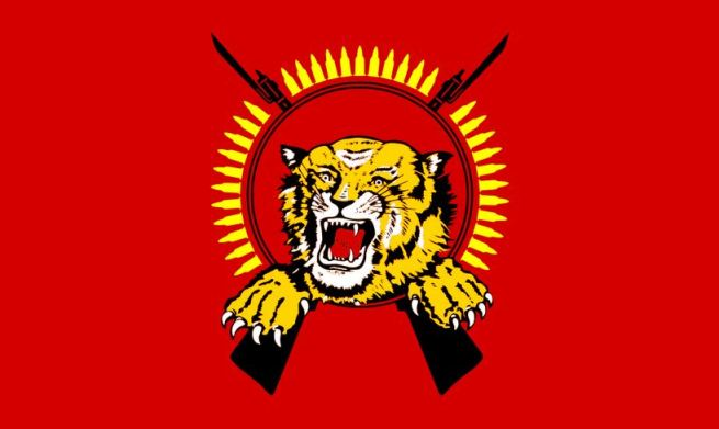 The Tamil Tiger's flag. Image from Wikipedia.org