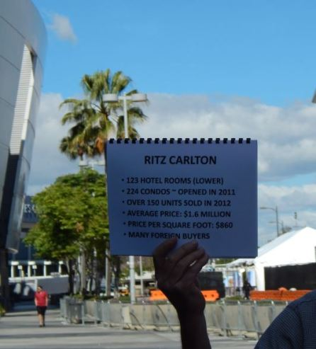 Information on the Ritz Carlton. Photo by Laylita Day.