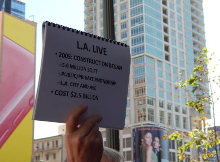 Information on L.A. Live. Photo by Laylita Day.