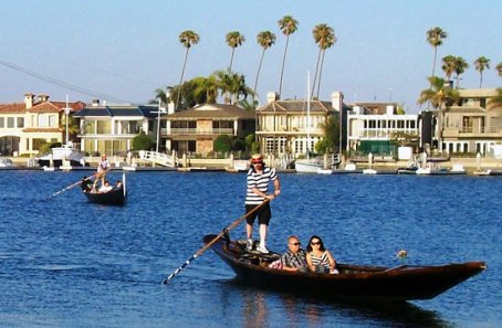 Gondola Cruises in Long Beach. Image from Google Images.