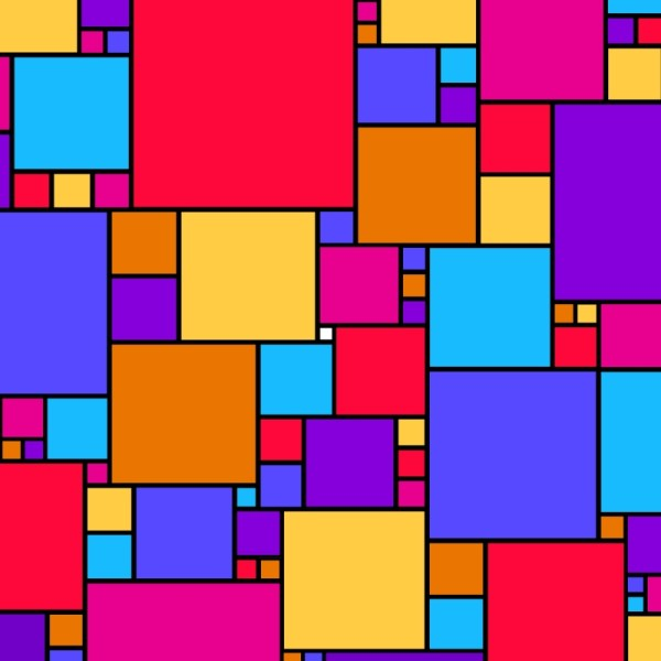 Geometric Abstract Art Squares