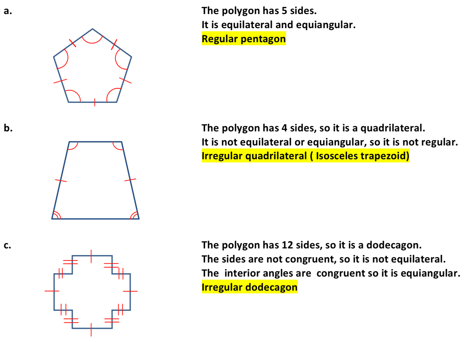 hight resolution of Classifying Polygons - Worksheet ⋆ GeometryCoach.com