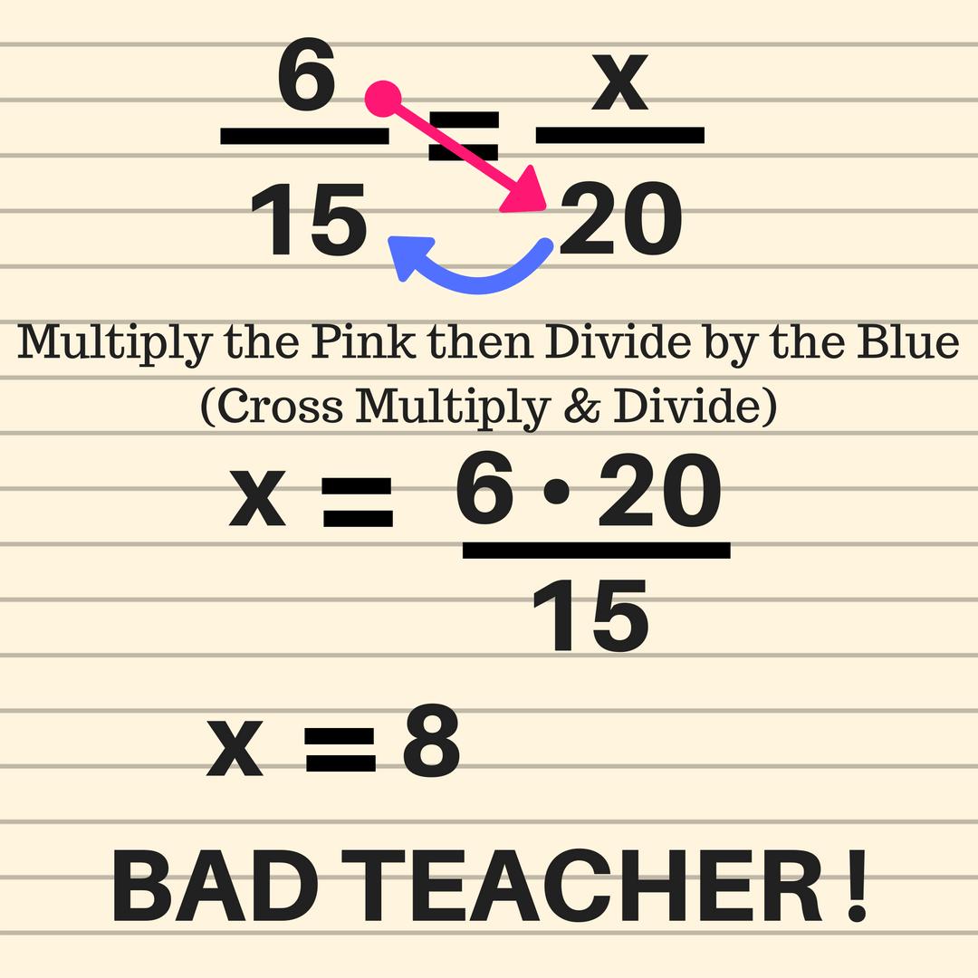 medium resolution of Ratios and Proportions - Bad Teacher! - GeometryCoach.com
