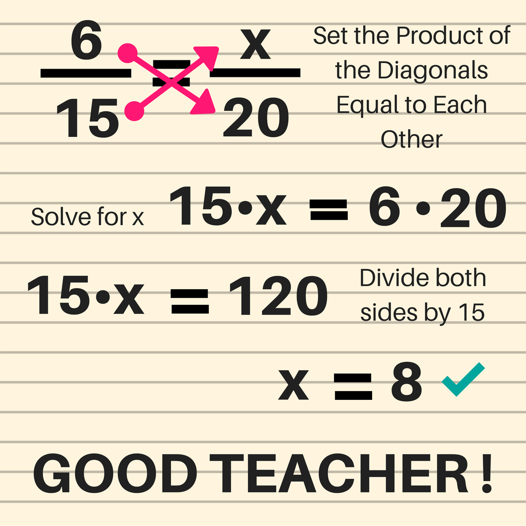 hight resolution of Ratios and Proportions - Bad Teacher! - GeometryCoach.com