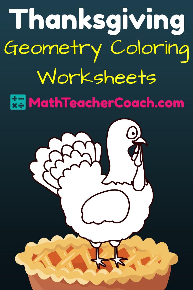 medium resolution of FREE Thanksgiving Worksheet for Geometry ⋆ GeometryCoach.com