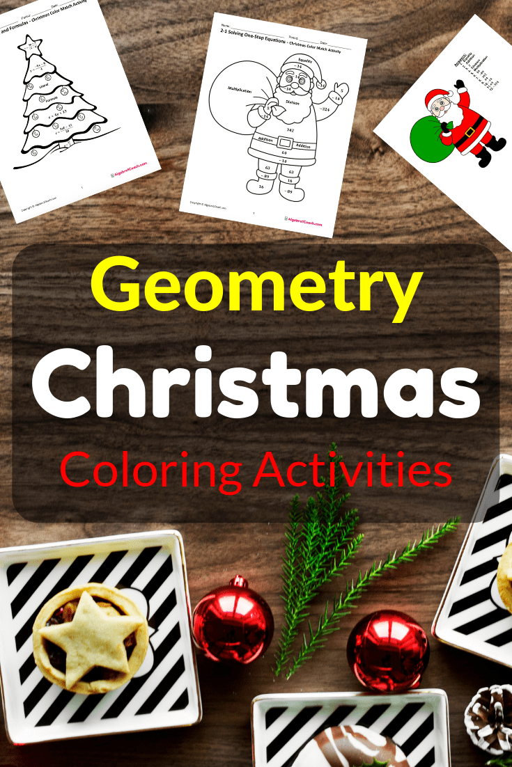 small resolution of Christmas Math Worksheets - GeometryCoach.com