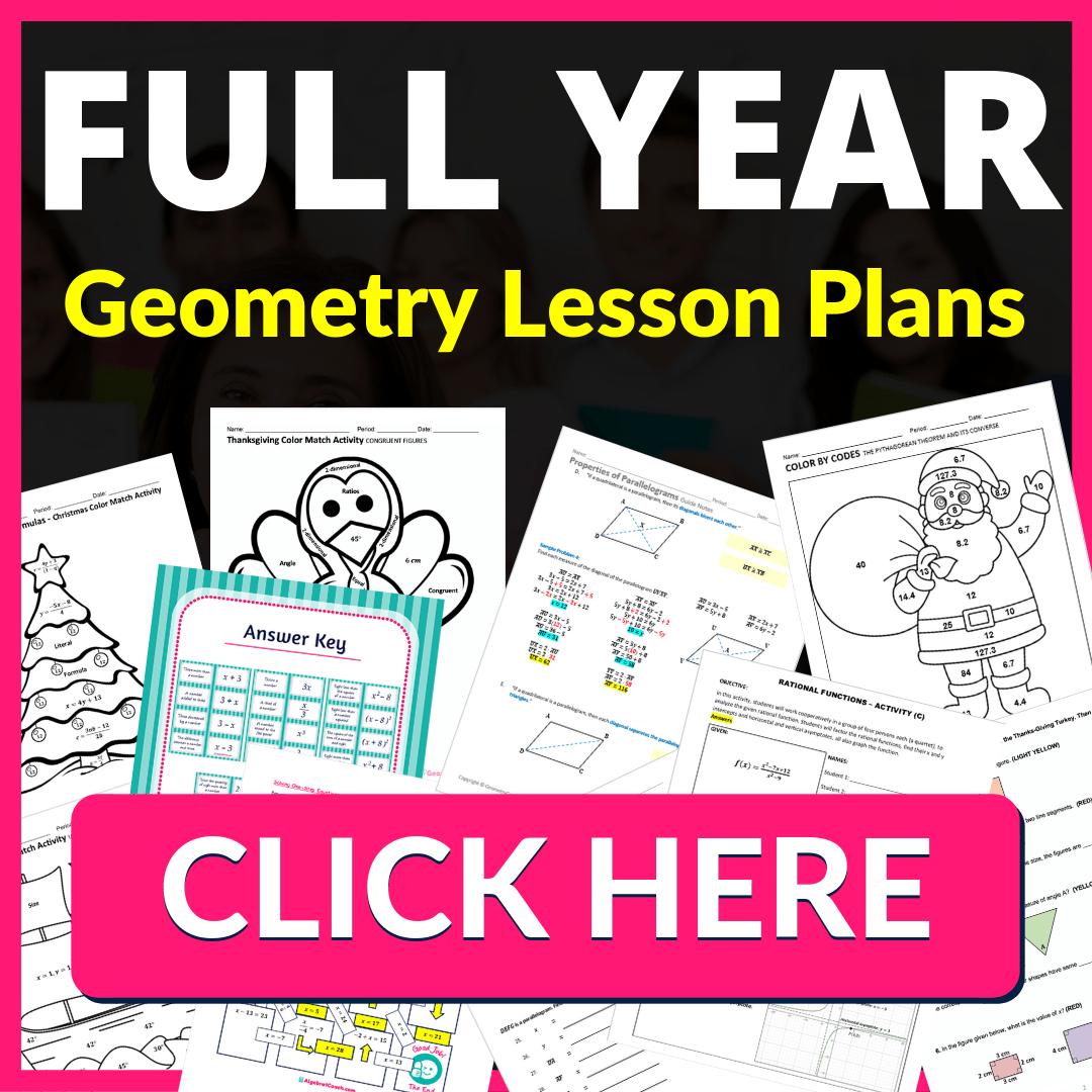 medium resolution of Geometry Curriculum - GeometryCoach.com