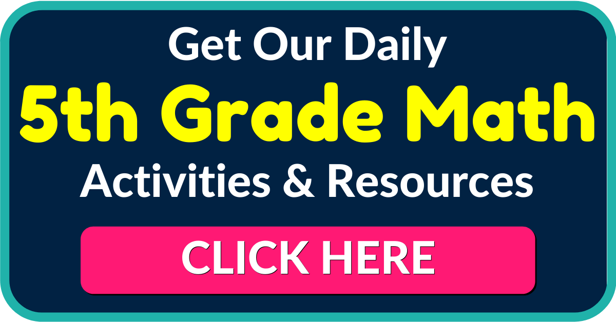 FREE 5th Grade Math Worksheets and Activities