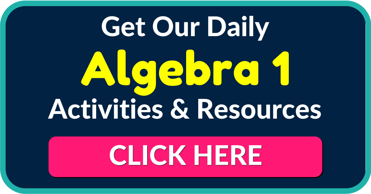FREE Algebra 1 Worksheets and Activities