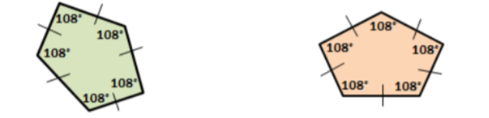 corresponding angles of two congruent figures