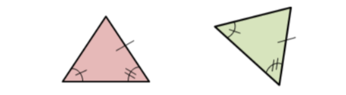 two triangles that are congruent by the AAS postulate