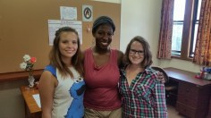 Our new team members: Jenna, Tebogo and Nicola