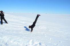 Jenna having fun in the snow
