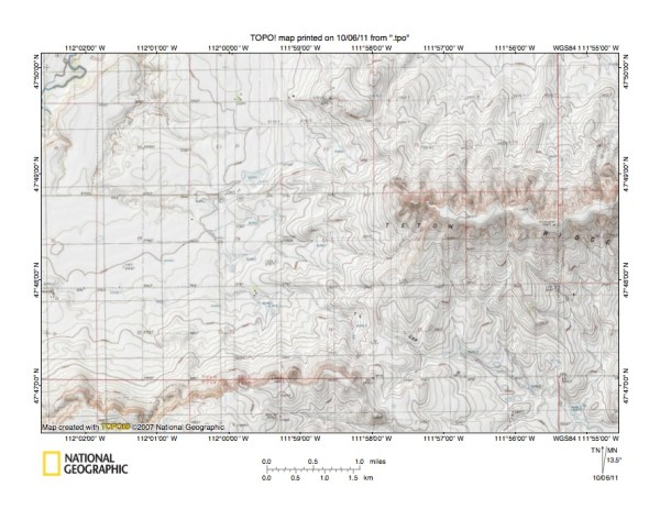 Montana Sun River drainage basin landform origins