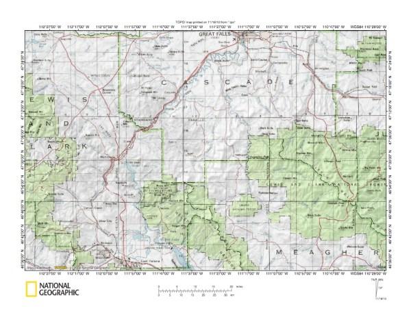 Missouri River drainage basin landform origins in Montana