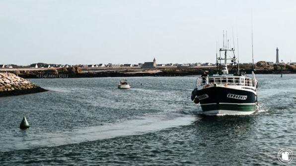 Retour bateau fin de journée, Penmar'ch, Bretagne