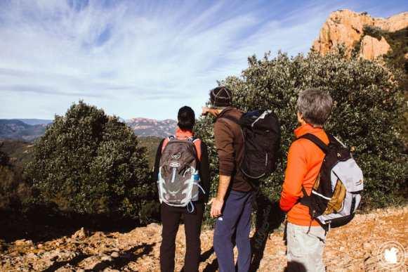 Les montagnes du haut var depuis Saint-Raphael