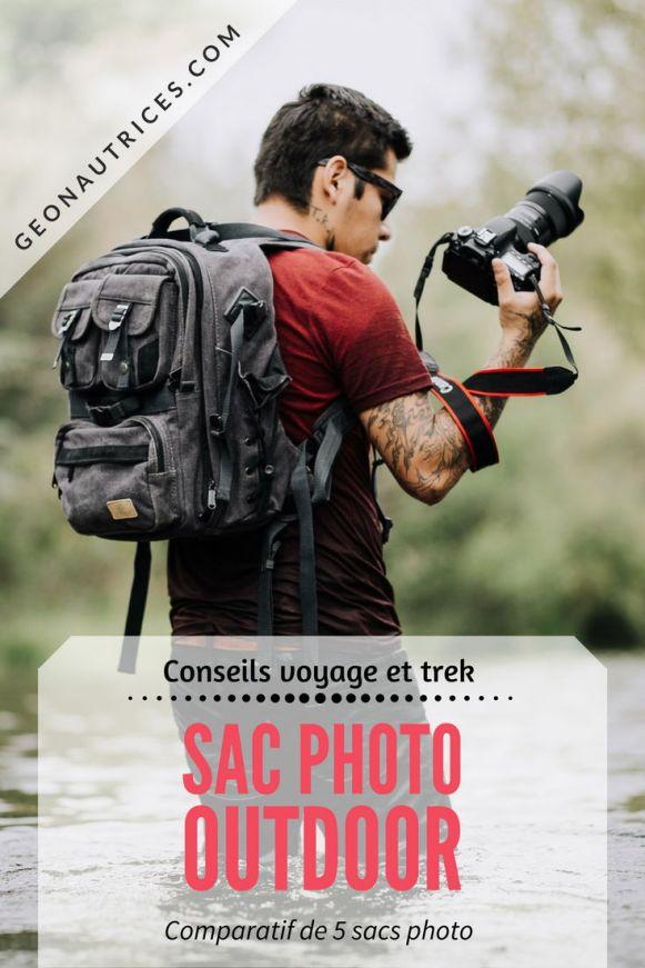 Comparatif de cinq sacs photo outdoor qui conviennent autant aux voyageurs qu'aux randonneurs et de préférence aux deux activités. #photo #sac #comparatif #photographie