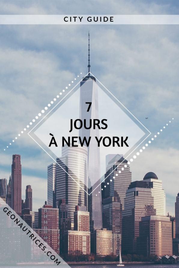Visiter New York en 7 jours avec notre planning testé et approuvé ! ;) Les quartiers à voir, les activités à faire, les bons plans à ne pas manquer... C'est une ville qui dégage une énergie débordante ! #NewYork #Voyage