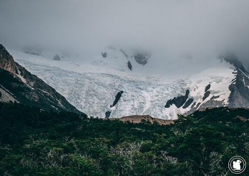 Glacier Grande au dessus de la Laguna Torre