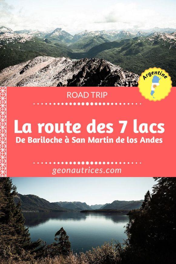 La mythique route des 7 lacs en Argentine vous fait voir des paysages époustouflants, entre lacs et montagnes ! Depuis Bariloche jusqu'à San Martin de Los Andes en passant par Villa La Angostura. Nous vous emmenons avec nous pour la découvrir à travers notre article. Un road trip de plusieurs jours inoubliable ! #patagonie #bariloche #argentine #roadtrip #travel