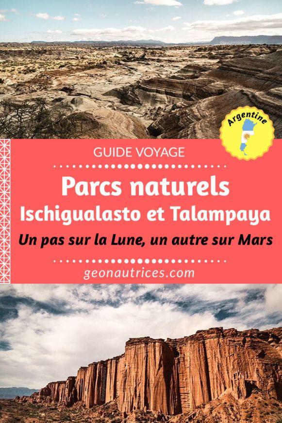Si vous recherchez du dépaysement et à en prendre plein la vue en Argentine, faites un tour dans les parcs Ischigualasto et Talampaya dans les provinces de San Juan et La Rioja, au nord de Mendoza. Entre la Lune et Mars, les paysages nous transportent sur d'autres planètes. Toutes les informations sur ces parcs sont dans notre article, par ici ! #ischigualasto #talampaya #parcs #nature #argentine #amazing