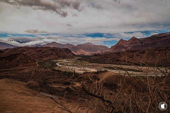 Magnifique vue sur la Quebrada de Cafayate aussi appelée Quebrada de las Conchas