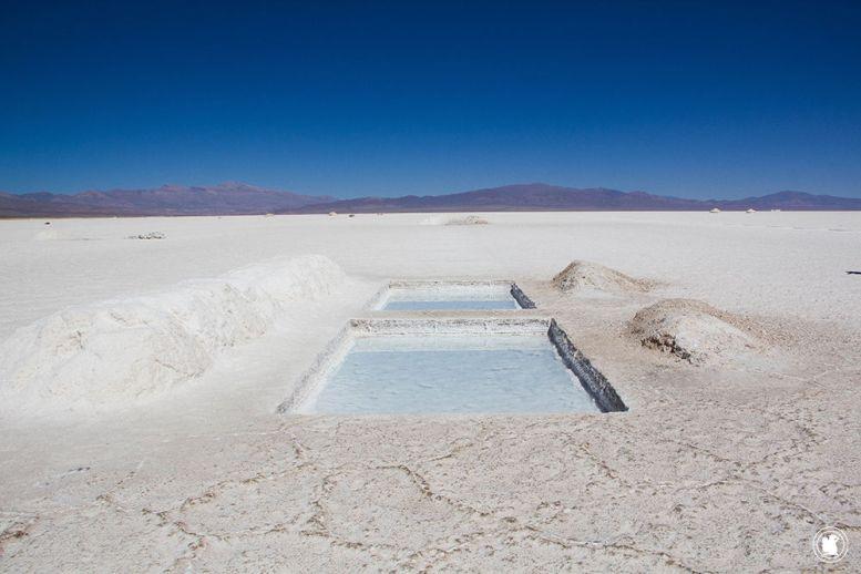 Bassins d'exploitation dans les Salinas Grandes en Argentine