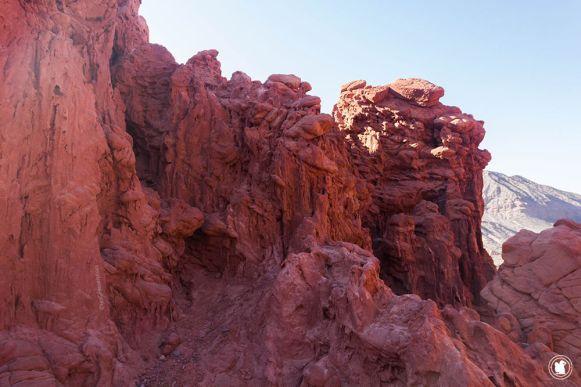 Les roches rouges de la Quebrada de las señoritas à Uquía