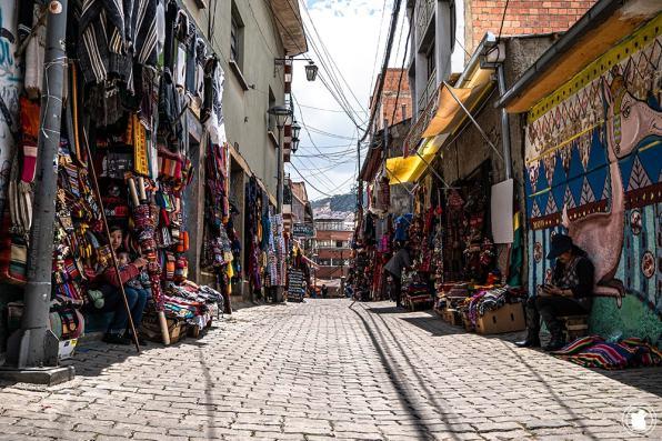 Rue Marché des Sorcières à La Paz