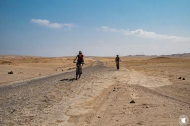 Journée vélo dans le désert de la réserve naturelle de Paracas