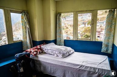 Trek des 3 cols - Chambre du lodge à Namche Bazaar