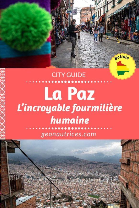 Découvrir La Paz, véritable fourmilière humaine, est une chose qu'on ne manque pas en général lorsqu'on voyage en Bolivie. On aime ou pas, chacun son avis sur la question. Voici notre retour d'expérience dans cet article. #Bolivie #Voyage #LaPaz #Citytrip