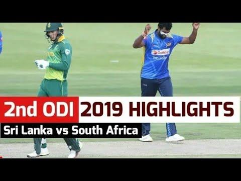 South Africa vs srilanka 2nd odi highlights 2019 || sl vs sa odi highlights 2019