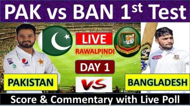Pakistan vs Bangladesh Live Streaming 1st Test Match-PAK vs BD Live