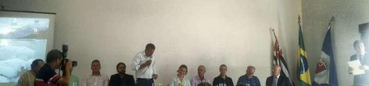 Mesa de Abertura do 7º Fórum Permanente em Defesa do Rio Corumbataí