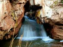 Framed Falls. Soda Dam Falls, Jemez Mountain Trail National scenic Byway, New Mexico