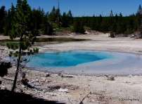 Blue Pool at Norris Basin, Yellowstone National Park