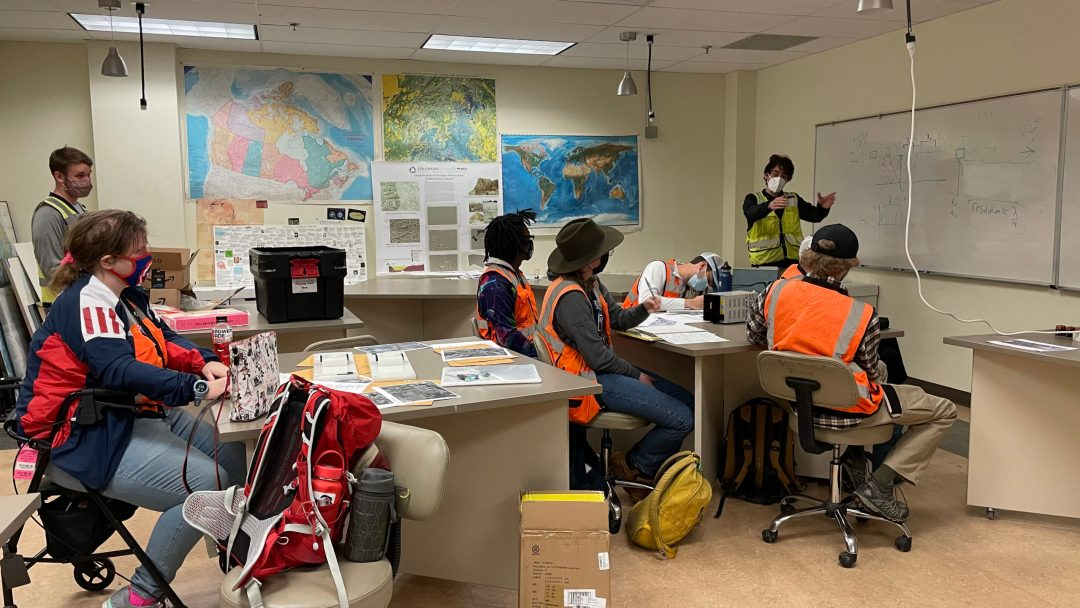 Mines Geophysics Students in Classroom