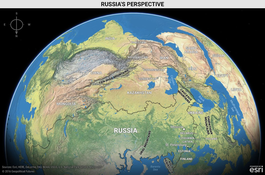 Russia's perspective map