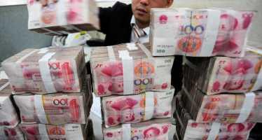 chinese yuan stacks