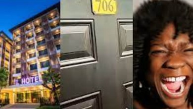 Slay queen screams hard while taking the rod in hotel room 706 (video)