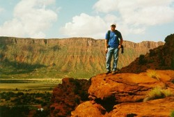 The author in Castle Valley, UT near Moab during his geology fieldcamp in 1998