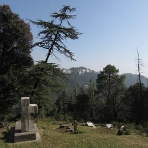 McLeod Ganj seen on the distant hillside