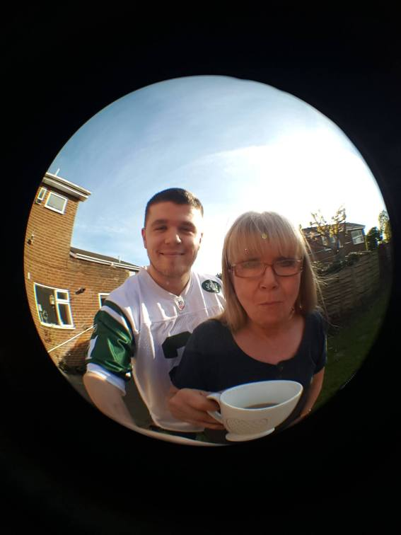 Front Camera - Me and my Mam (mid-mouthful of tea)